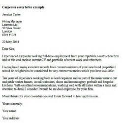 Industrial Carpenter Cover Letter by Post Reply
