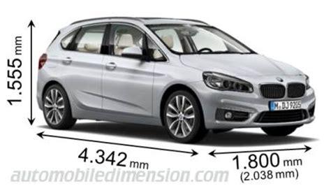 Vergleich Bmw X1 2er Active Tourer by Abmessungen Der Bmw Autos Mit L 228 Nge Breite Und H 246 He