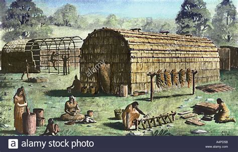 Iroquois Also Search For Iroquois Longhouse In America Stock Photo Royalty Free Image 2059610 Alamy