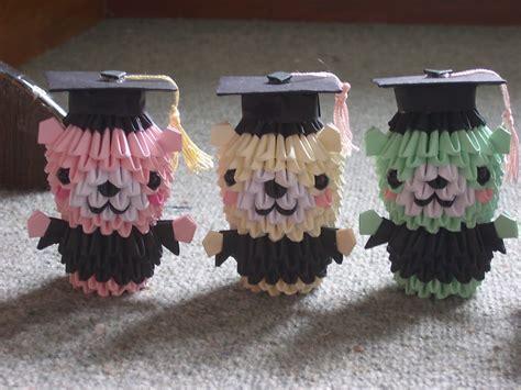 3d origami graduation bear tutorial jewellia handicrafts new 3d origami graduation bears