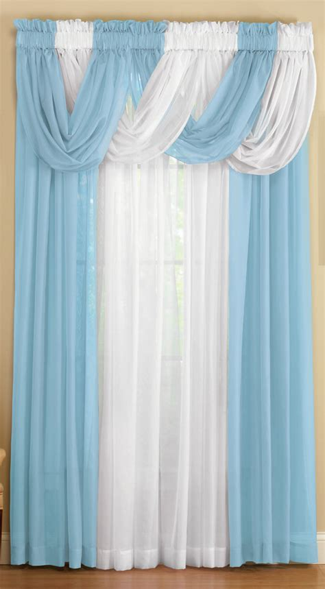 curtains etc collections etc sheer scoop valance curtains 2 pc ebay