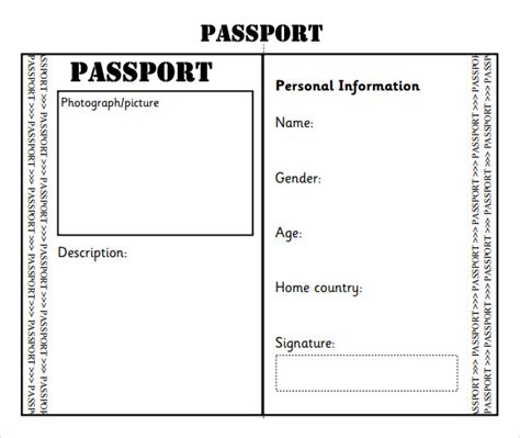 Passport Template 8 Download Free Documents In Pdf Word Editable Passport Template