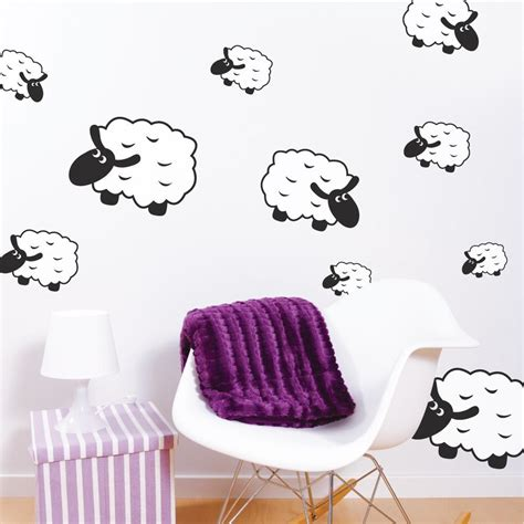 sheep wall stickers counting sheep wall stickers wallboss wall stickers