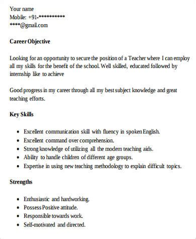 Beginning Resume Objective by 8 Resume Exles Sle Templates