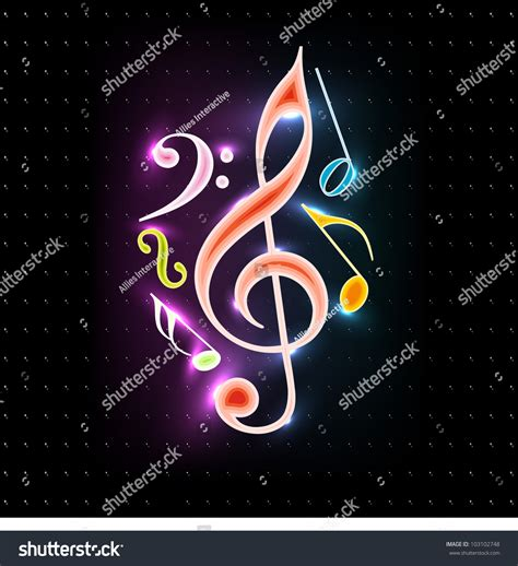 dark color musical notes vector abstract colorful shiny musical notes on stock vector