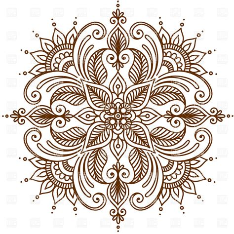 henna tattoo designs eps henna clipart makedes