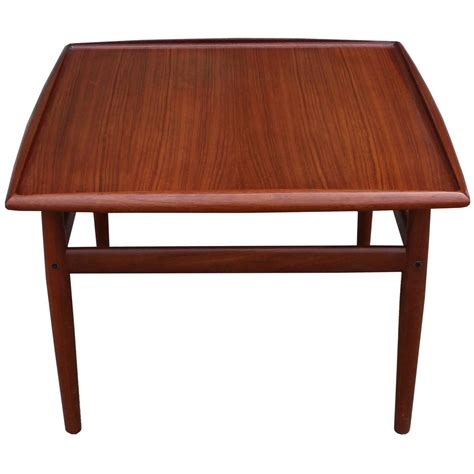 teak square side table by grete jalk at 1stdibs