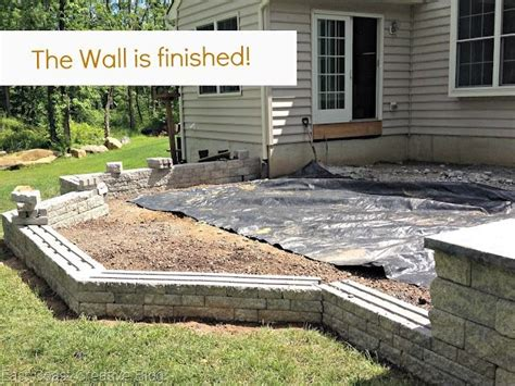 how to build a backyard patio finished wall how to build a patio backyard outdoor pinterest
