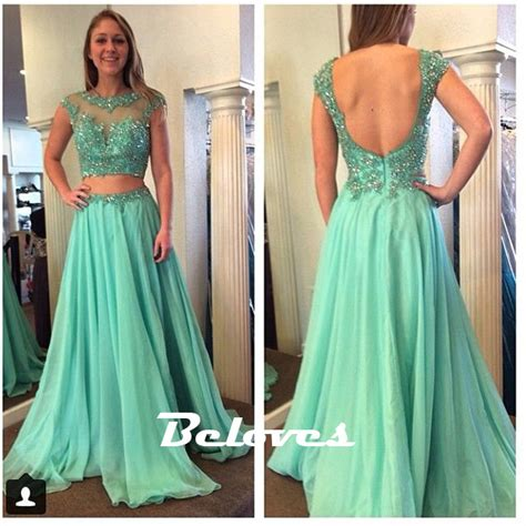 light green dress with sleeves light green chiffon cap sleeves beaded prom dress with