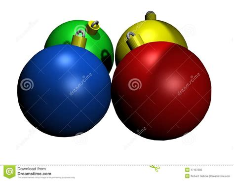 illustrated colored glass christmas ornaments royalty free