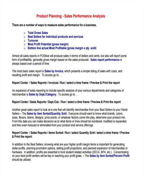 8 sales analysis exles sles