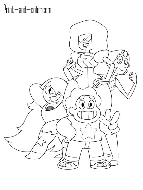 printable coloring pages steven universe steven universe coloring pages print and color com