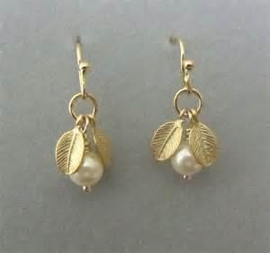 earrings simple simple dangling pearl earrings gold earrings gold by kamaijewelry