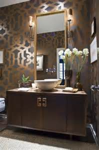 Dramatic Wallpaper For Powder Room Andrea Hebard Interior Design Blog Bold Powder Room Design