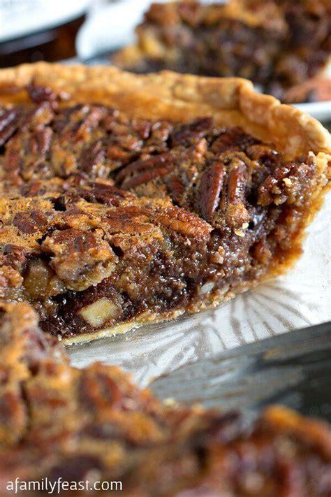 chocolate bourbon pecan pie   blog recipes