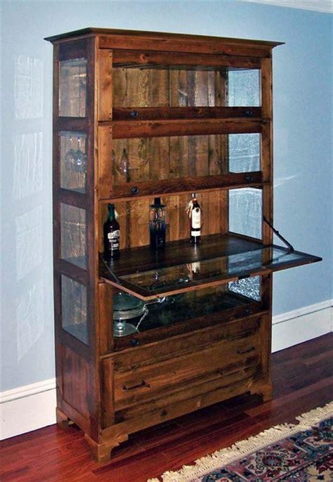 antique style liquor cabinet  bendheim glass inserts