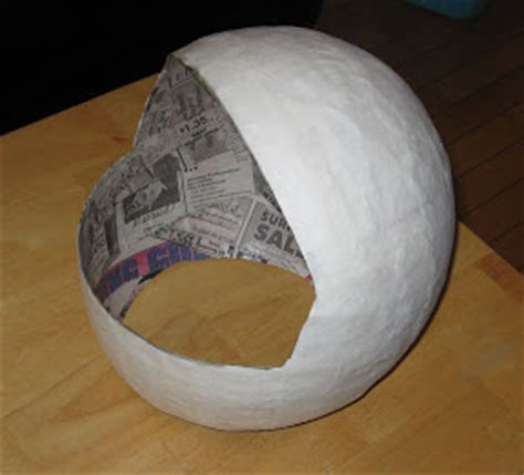 How To Make A Paper Mache Football Helmet - a fancy dress question feat me a spaceman