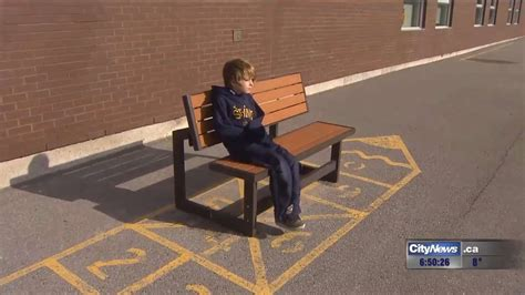 buddy bench video video buddy bench aims to connect lonely kids with new friends 680 news