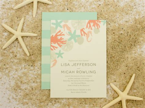 25 beach wedding invitation templates free sle