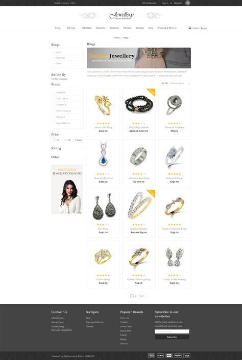 Jewellery Multipurpose Stencil Bigcommerce Theme By Templatemela Bigcommerce Stencil Templates