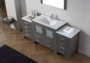 72 Vanity With One Sink Virtu Usa 72 Inch Bathroom Vanity Zebra Grey