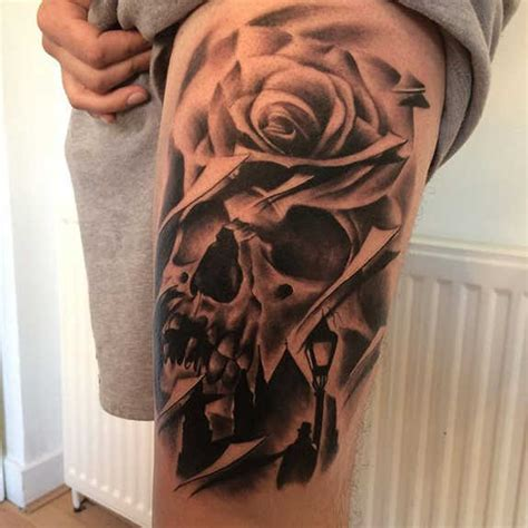 skull rose gun tattoo 31 supreme skull tattoos gun