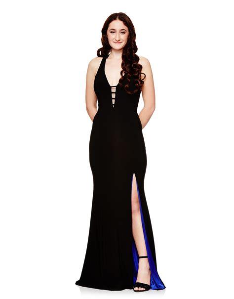 Open Slit Dress open back dress with slit