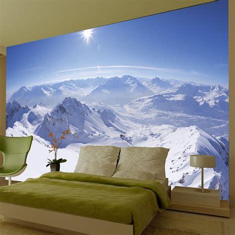 mountain wall mural mountain wallpaper wall mural 2 32m x 3 15m new room decor alps ebay