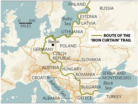 map iron curtain iron curtain bike along the western and southern czech