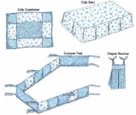 Patterns For Crib Bedding Kwik Sew 3685 Crib Comforter Skirt Fitted Sheet Bumper Pad Stacker