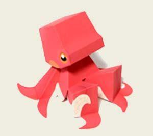 Octopus Papercraft - papercraft toys octopus paperkraft net free