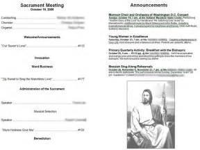 lds sacrament meeting program template lds sacrament program covers just b cause