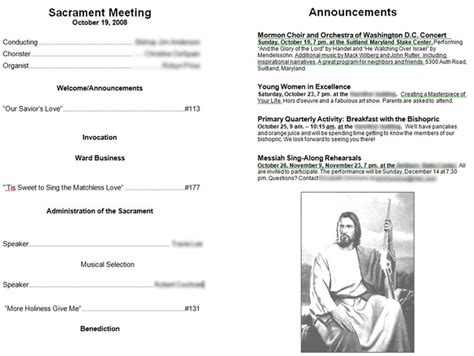 lds sacrament meeting program template lds sacrament program covers just b cause