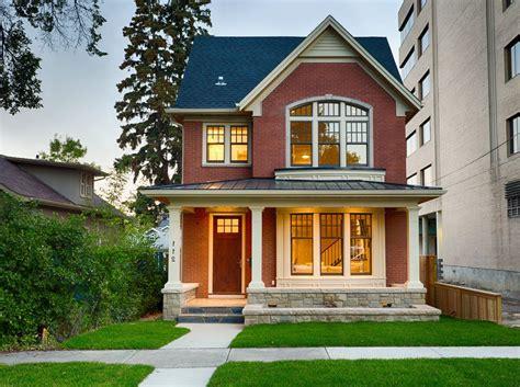 home design story update beige brick house exterior craftsman with white column