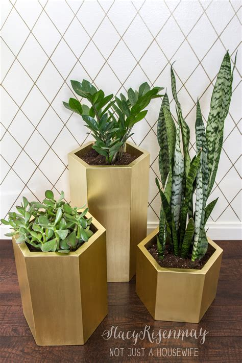 Gold Planters by Favorite Planter Projects Not Just A