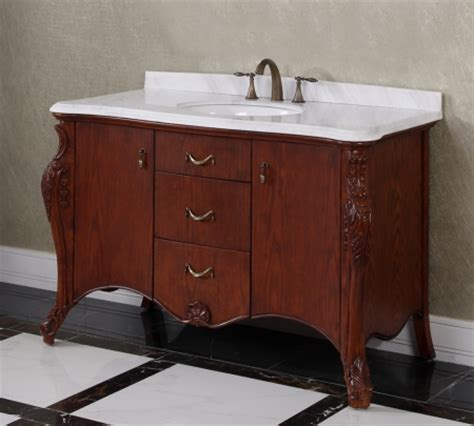 53 1 inch single sink bathroom vanity with carerra white