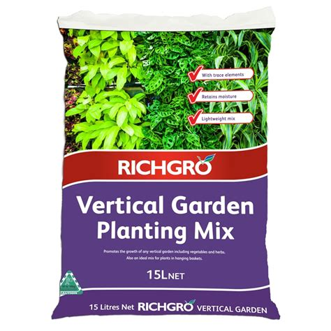 Bunnings Vertical Garden Richgro 15l Vertical Garden Planting Mix Bunnings Warehouse