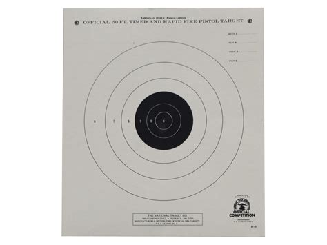 printable targets midway nra official pistol targets b 3 50 timed rapid fire paper