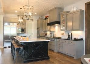gray kitchen cabinets with black island quicua com