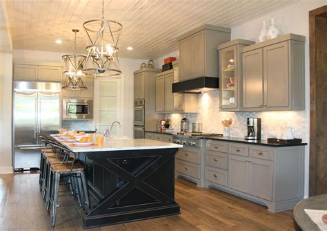 gray kitchen island kitchen with white cabinets grey island