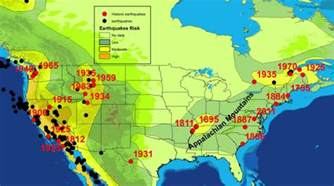 Earthquake Map Usa by Earthquakey Times Scientific American Blog Network