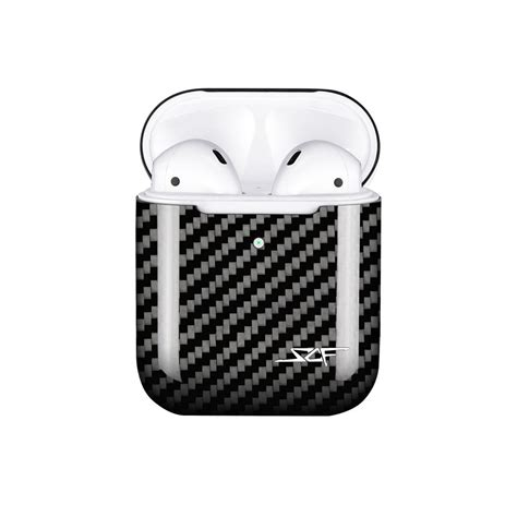apple airpods real carbon fiber case wireless charging