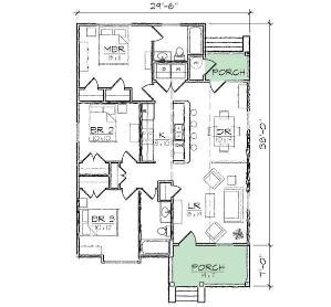 eastover cottage plan 1666 17 house plans with porches eastover cottage plan sl 1666