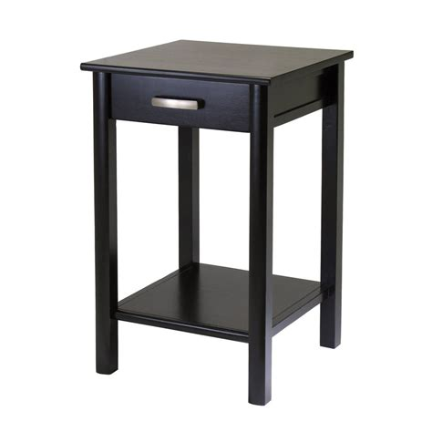 espresso accent table shop winsome wood liso dark espresso square end table at