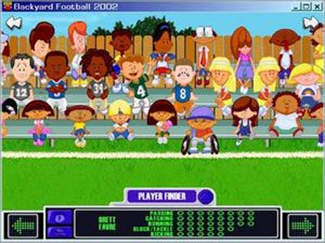 backyard football characters 32 page instruction manual registration card