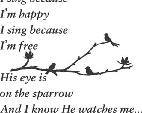 printable lyrics to his eye is on the sparrow his eye is on the sparrow etsy