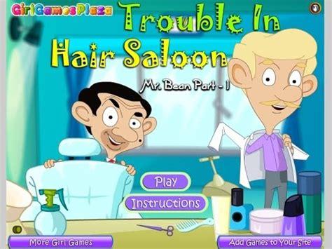 haircut games mr bean mr bean cartoon trouble in hair salon games for kids gry