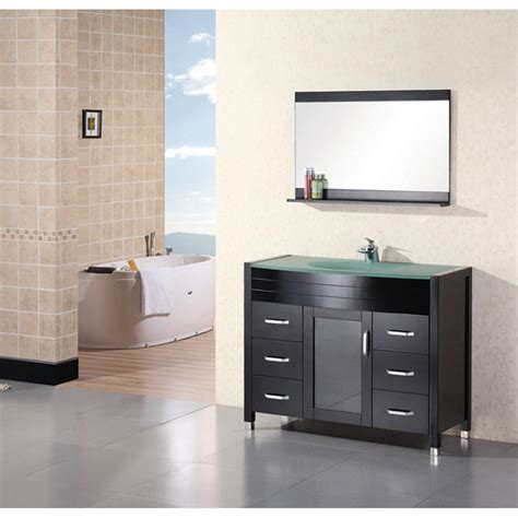 Design Element Bathroom Vanities by Design Element Waterfall 48 Quot Bathroom Vanity Espresso