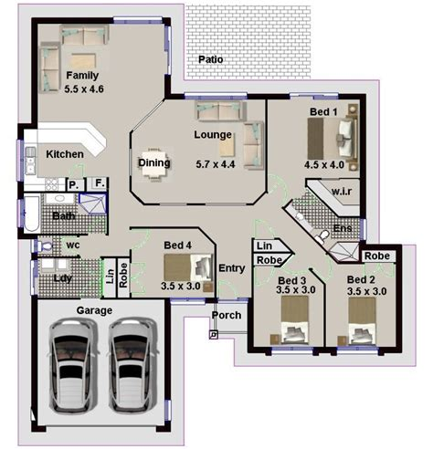 four bedroom house plans in south africa 4 bedroom house plans with double garage south africa
