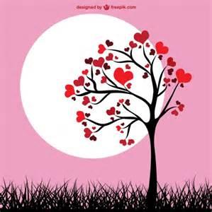corazones imgenes y fotos imagenesgratiscom 193 rbol de corazones fondo rosa descargar vectores gratis
